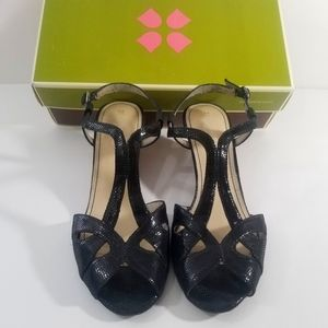 NWB Naturalizer Hisa Black Open Toe Sandals Sz.8